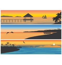 Tropic island vector image