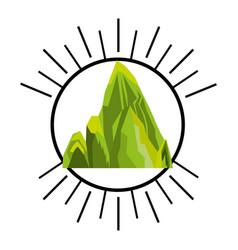 big mountain isolated icon vector image