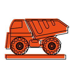 dump truck construction heavy machinery icon image vector image vector image