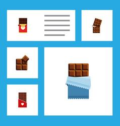 Flat icon bitter set of chocolate bar bitter vector