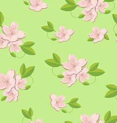 Sakura seamless pattern vector image