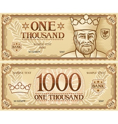 Thousand dollar banknote vector image vector image