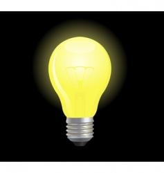 vector light bulb vector image vector image