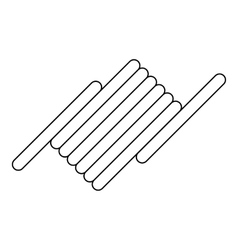 Barbed wire icon outline style vector image vector image