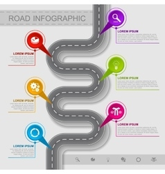 Best road infographic vector image