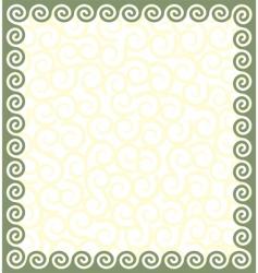Greek style frame vector image vector image