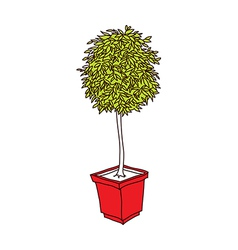 A flower pot stand on vector