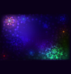 abstract background with mandala and snowflake vector image