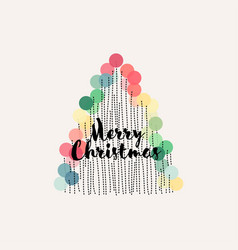 Abstract christmas tree with pastel decoration vector