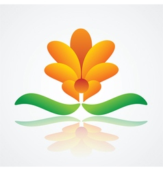 abstract flower design vector image