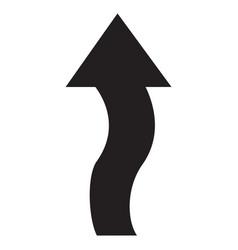 arrow black symbol icon vector image