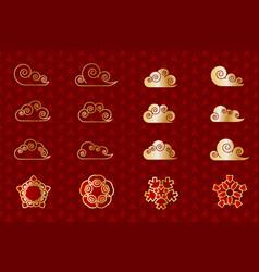 asian china japan eastern flower set vector image