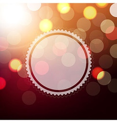 Background With Bokeh And Sphere vector image