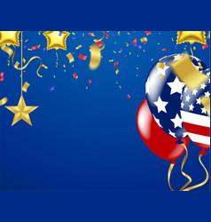 balloon on transparent on star pattern background vector image