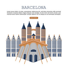 barcelona architecture card city famous vector image