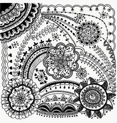beauty zentangle design vector image