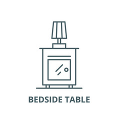 bedside table line icon linear concept vector image