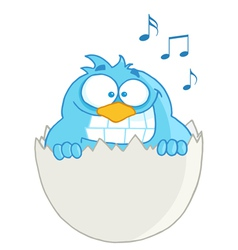 Blue Bird In Egg Speech vector