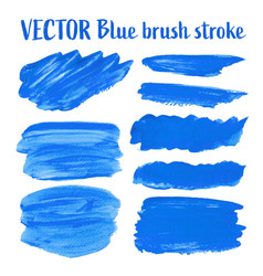 blue brush stroke isolated on white background vector image
