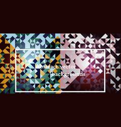 Blue grid mosaic background creative design vector