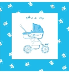 blue pram with nipples vector image