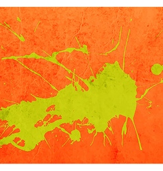 Bright Orange Paint Splash Background vector image