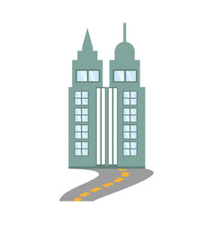 building skyscraper road design vector image