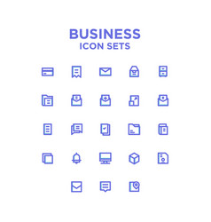 Business and finance icon sets vector