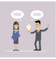 business idea and concept vector image
