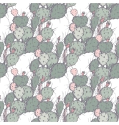 Cacti seamless background in hand vector