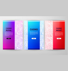 casino night brochure web design vector image