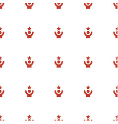 celebrity icon pattern seamless white background vector image