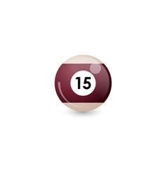 Chocolate billiard ball number 15 vector
