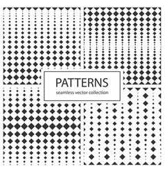 Collection halftone seamless geometric patterns vector