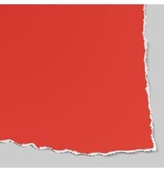 Corner of torn paper Use in design banners flyer vector