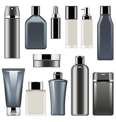 cosmetic packaging icons set 9 vector image