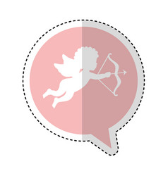 Cupid angel silhouette icon vector