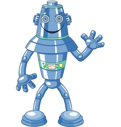 Cute cartoon robot vector image