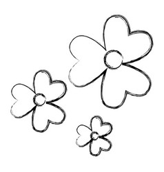 cute flowers pattern icon vector image