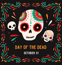 day death 31 october postcard or card vector image