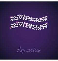 Diamond zodiac Aquarius vector