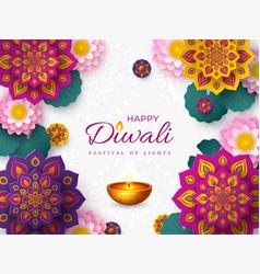 Diwali festival lights holiday banner vector