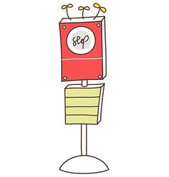 Doodle bus stop vector image