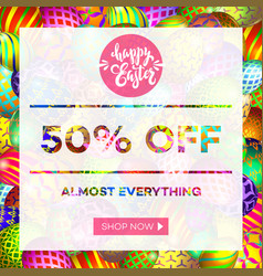 easter egg sale banner background template 13 vector image