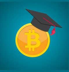 Education and money graduation hat and coins cash vector