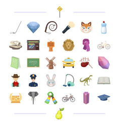 Education history travel and other web icon in vector