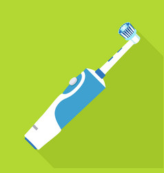 electric toothbrush icon flat style vector image