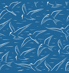 flying tern seamless tile vector image