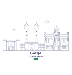 ganja city skyline vector image