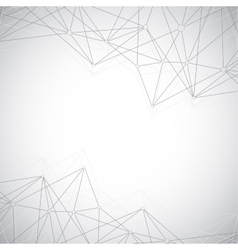 Geometric grey background molecule and vector image